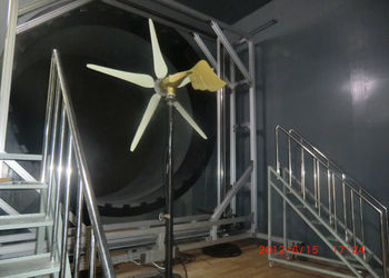 HY Energy wind turbine wind tunnel testing