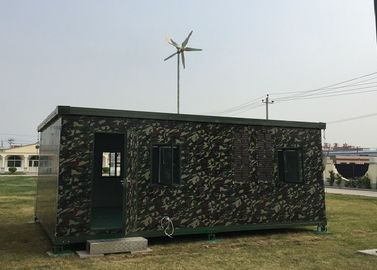 4M Wind Turbine Install On the Container 400W Wind Generator Supply Power For the Movable House