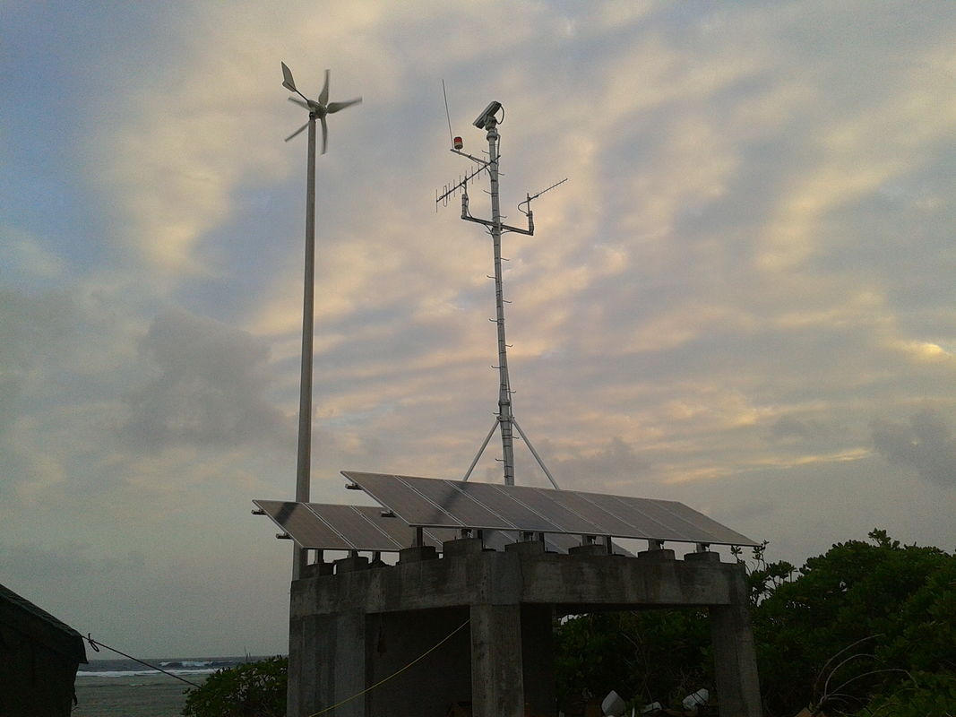 Wind And Solar Hybrid System , Telecom Base 1500W Wind Turbine Generator