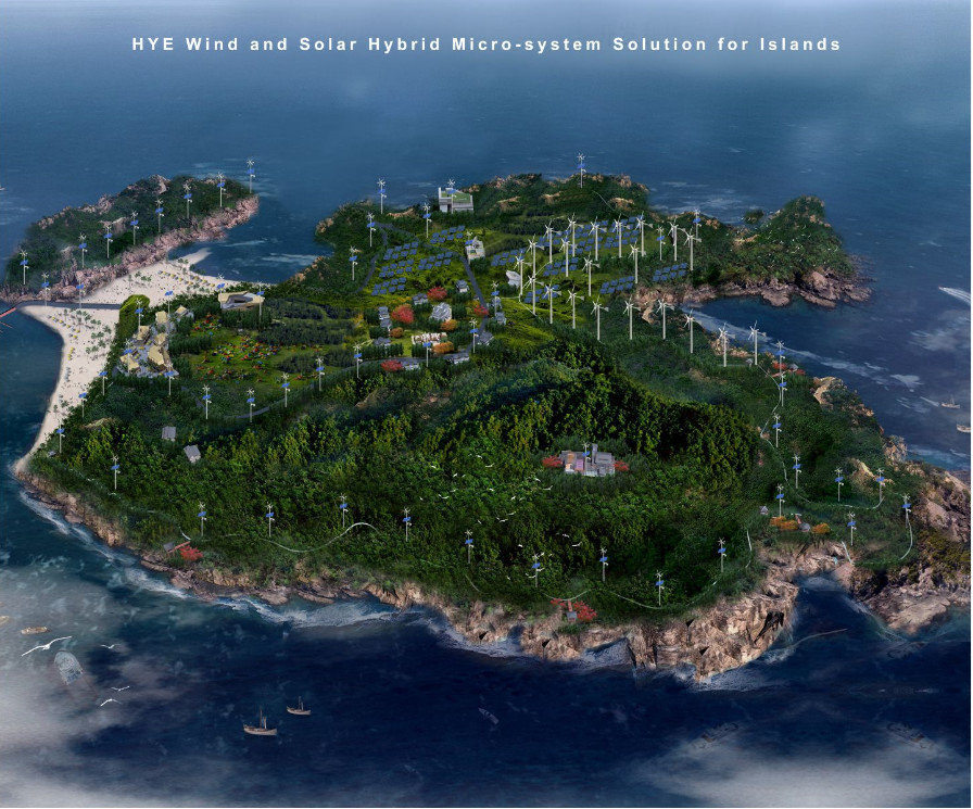 HYE 400KW Renewable Energy Wind and Solar Hybrid Mirco-system Solution for Island,Off-Grid System